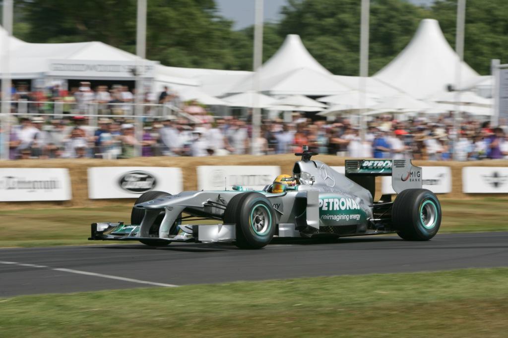 Lewis Hamilton Mercedes F1 car FoS 2013